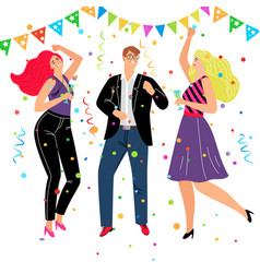 corporate friendly event vector image
