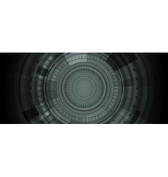 Dark HUD gears tech background vector