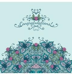 Decorative element congratulations card vector