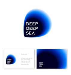 Deep deep sea logo sea travel club logo vector