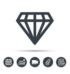 Diamond icon jewelry gem sign vector