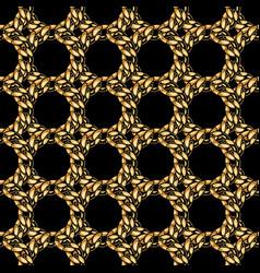 elegant gold chain grid seamless pattern vector image