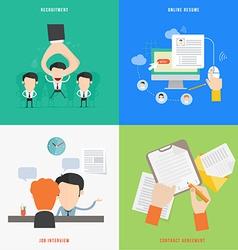 Element of hr recruitment process concept icon vector