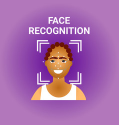 Facial recognition biometrics scanning of african vector