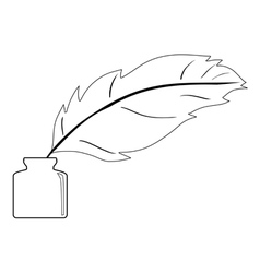 feather and ink vector image