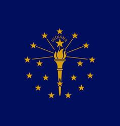Flag indiana state crossroads america vector
