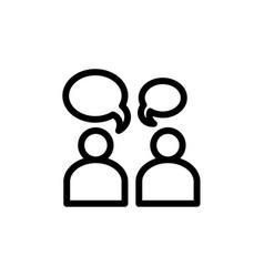 flat editable line people talk icon symbol sign vector image