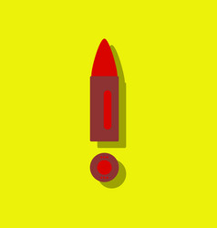 Flat icon design collection military bullet and vector