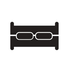 Flat icon in black and white style sofa vector