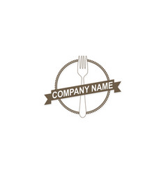 food fork company logo vector image