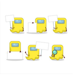 Ghost among us yellow cartoon character bring vector