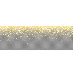 gold glitter background particle sparkles vector image