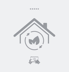 green house - web icon vector image