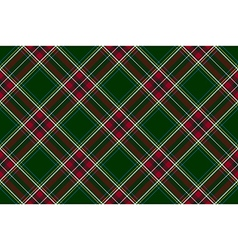 Green red diagonal check fabric texture seamless vector