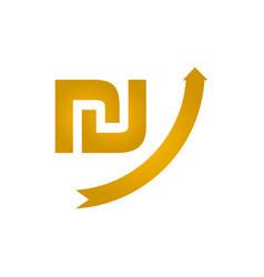 growing shekel icon vector image