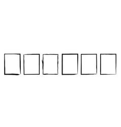Grunge frame texture set vector