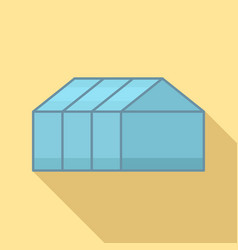 Home greenhouse icon flat style vector