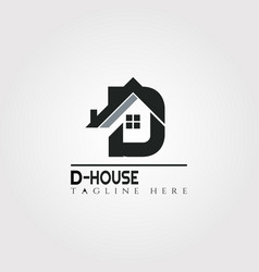 House icon template with g letter home creative vector