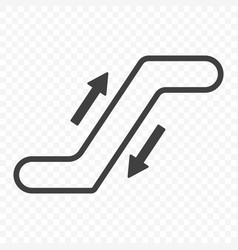 Icon escalator with up and down arrows on a vector