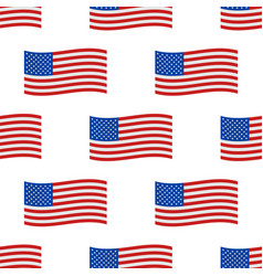 independence day usa flags seamless pattern united vector image
