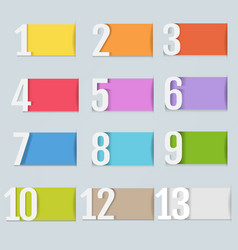 infographic design template with numbers vector image