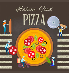 Italian food pizza vector