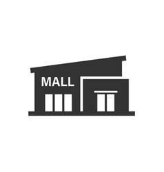 Mall icon in flat style store on white isolated vector
