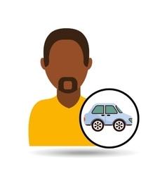 Man icon car design vector