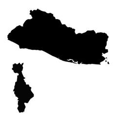 Map salvador and san salvador country and vector