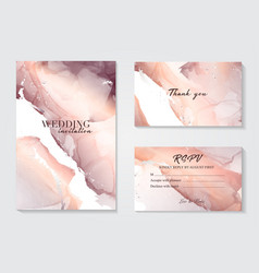 marble wedding cover background set marble tender vector image