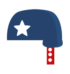 memorial day blue helmet with star american vector image