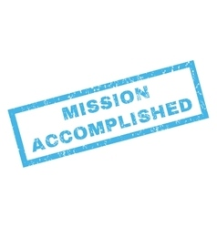 Mission Accomplished Rubber Stamp vector image