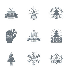 nativity logo set simple style vector image