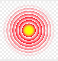 Pain red circle radial target icon vector