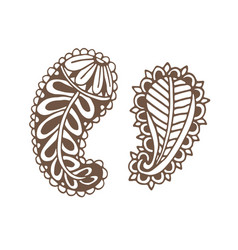 paislay tattoo design ornamental printed design vector image