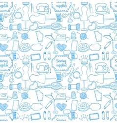 pattern sewing accessory Doodle vector image