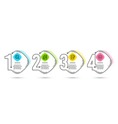 Payment survey checklist and currency audit icons vector