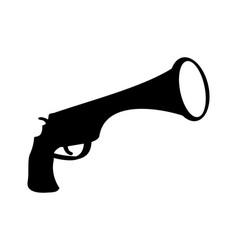 pirate gun icon filibuster pistol vector image