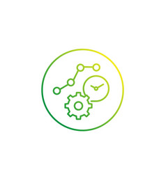 Productivity efficiency icon linear style vector