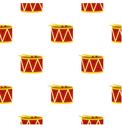 red drum and drumsticks pattern seamless vector image