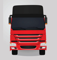 Red truck front view vector