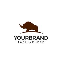 rhinoceros logo design concept template vector image