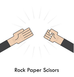 Rock paper scisors for it signhand of vector