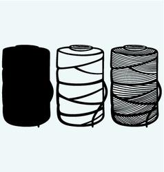 Roll twine cord vector