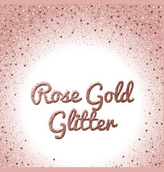 Rose gold glitter background pink golden vector