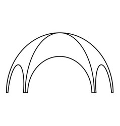 Round tent icon outline style vector
