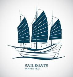 sailing boats vector image