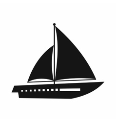 Sailing yacht icon simple style vector