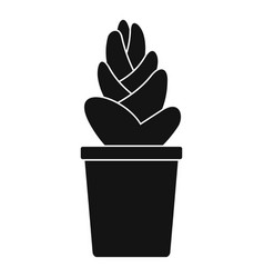 Sand cactus pot icon simple style vector