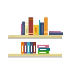 Shelves with Books and Folders vector